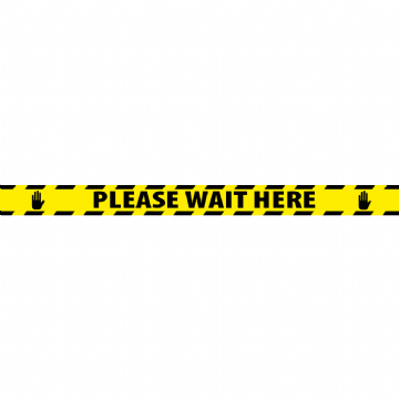 2000mm x 150mm - Please Wait Here
